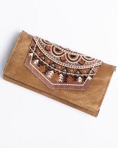 Shyanne Women s Brown Embroidered Pocket Wallet Crossbody 396edf5266440