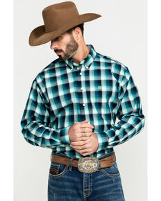 Cinch Men's Multi Large Plaid Button Long Sleeve Western Shirt - Big , Multi, hi-res