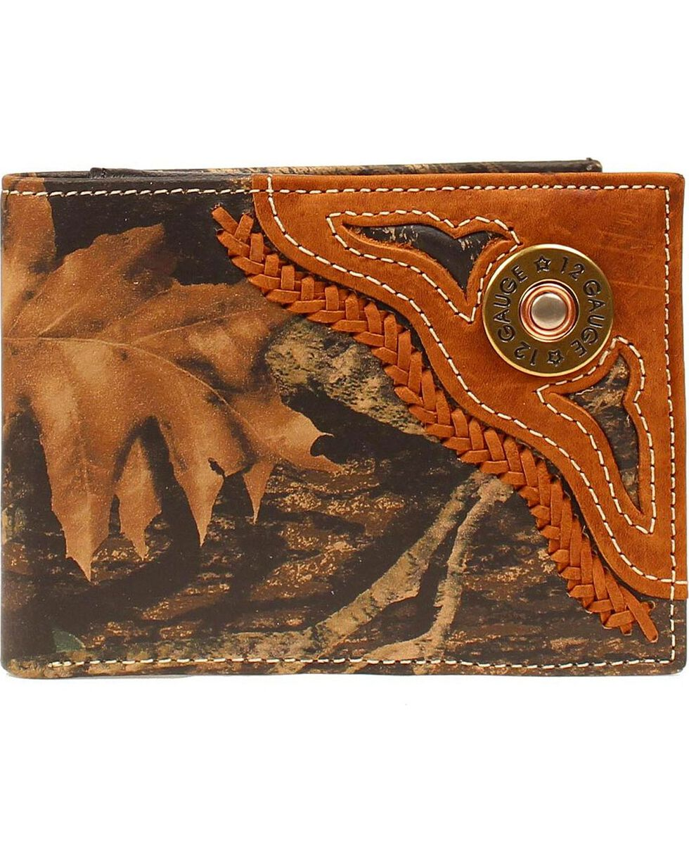 Nocona Men's Camo 12 Gauge Bi-fold Wallet, Camouflage, hi-res
