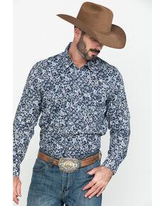 Rock & Rock Cowboy Men's Floral Print Long Sleeve Western Shirt , Black, hi-res