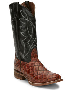 Nocona Men's Go Round Cognac Western Boots - Square Toe, Brown, hi-res