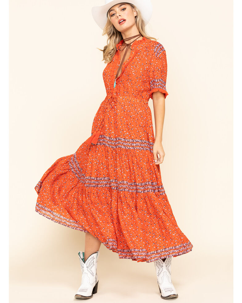 Free People Women's Rare Feeling Dress, Red, hi-res
