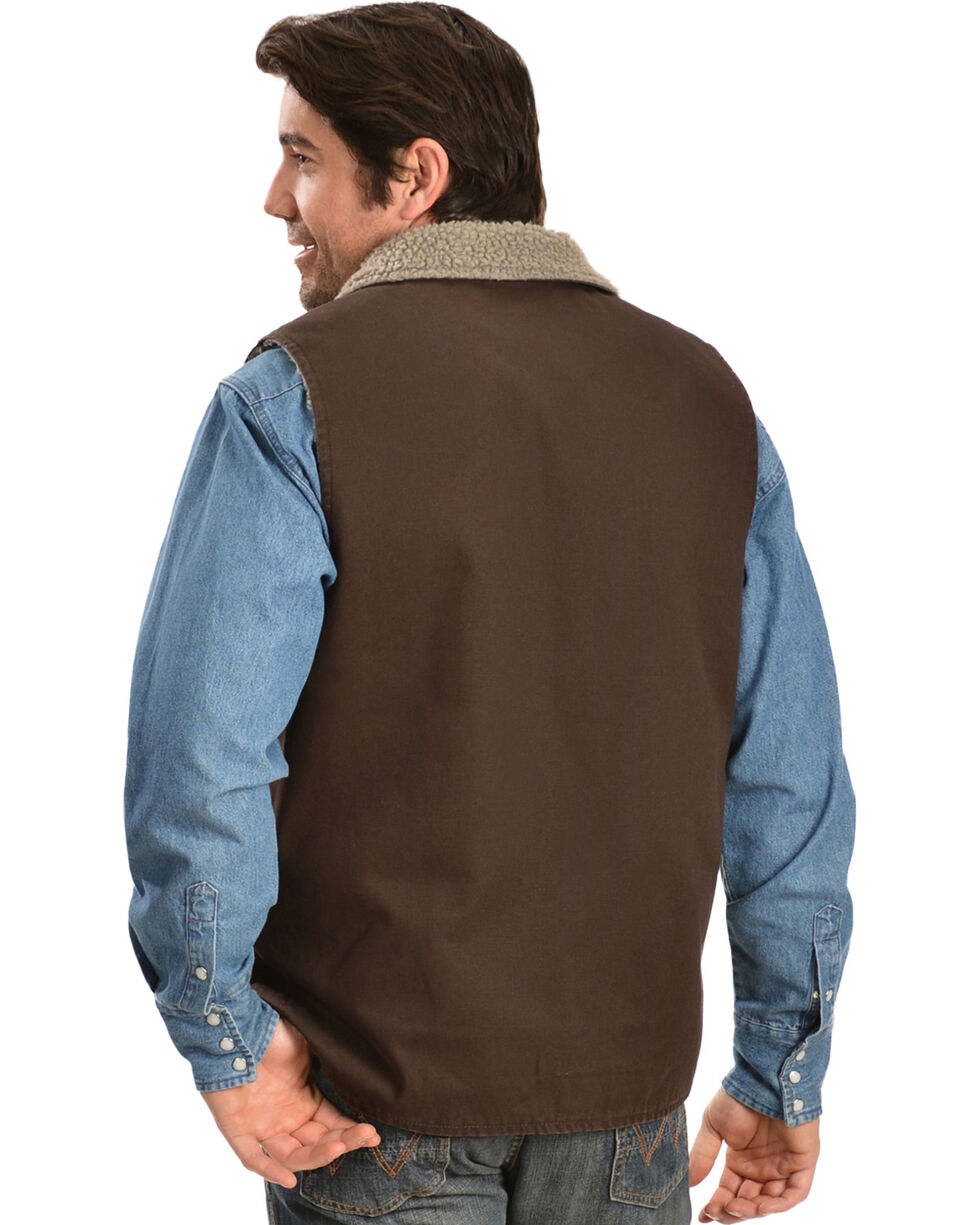 Gibson Trading Co. Faux Sherpa Vest, Chocolate, hi-res