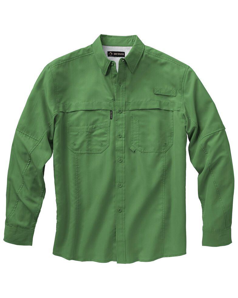 Dri Duck Men's Catch Long Sleeve Woven Work Shirt - Big & Tall , Green, hi-res