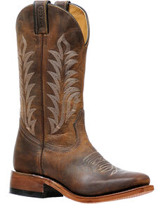 Boulet Women's Hillbilly Golden Cowgirl Boots - Square Toe, Brown, hi-res