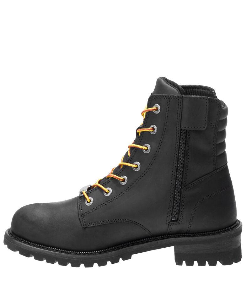 Harley Davidson Men's Hedman Moto Boots - Round Toe, Black, hi-res