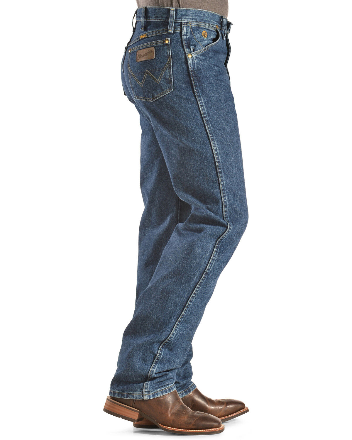 Mens Strait Cowboy Cut Original Fit Jean Comfy Stretch Skinny Denim Jeans Work Pants