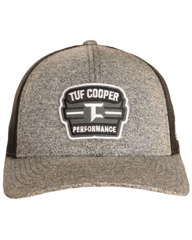 Rock & Roll Denim Men's Tuf Cooper Performance Patch Mesh-Back Ball Cap , Heather Grey, hi-res