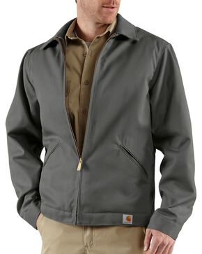 Carhartt Workwear Men's Twill Quilted Midweight Work Jacket, Grey, hi-res