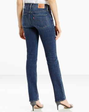 Levis Women's 311 Lavender Hill Slimming Straight Jeans - Straight Leg , Blue, hi-res