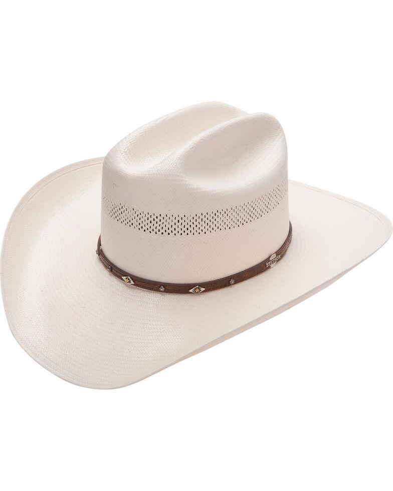 Stetson Lobo 10X Straw Cowboy Hat, Natural, hi-res
