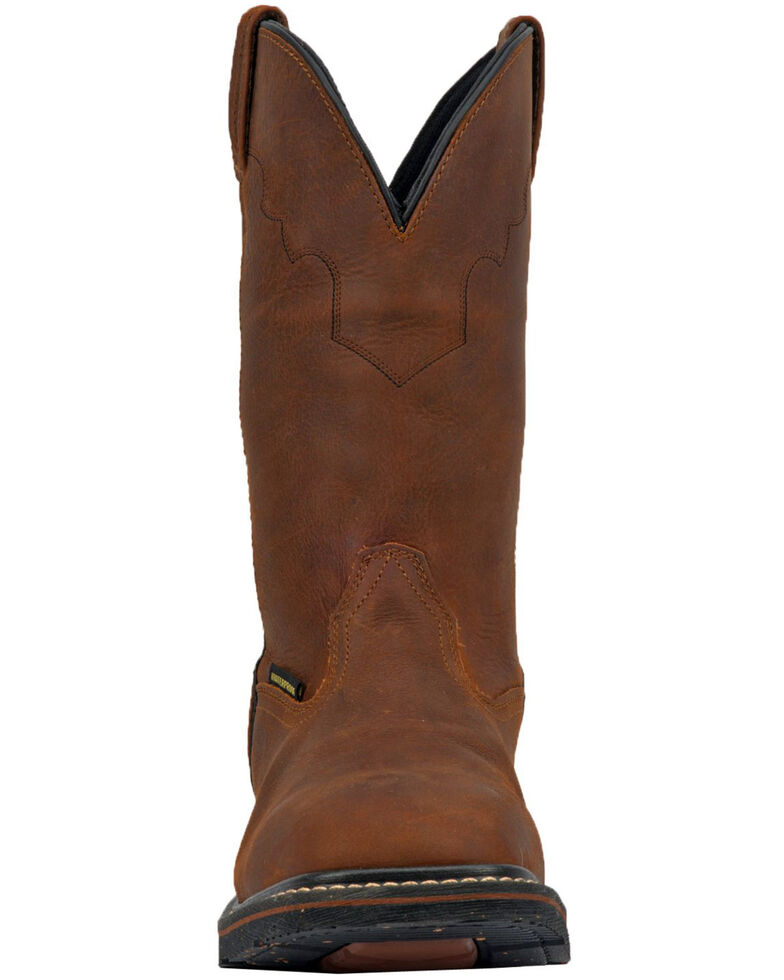 Dan Post Men's Lubbock Waterproof Western Work Boots - Steel Toe, Tan/copper, hi-res