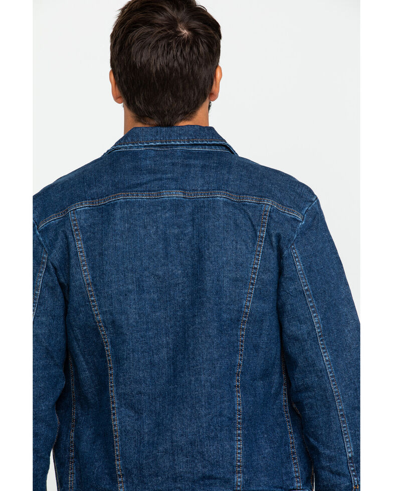 Wrangler Retro Men's Unlined Worn Indigo Denim Jacket , Indigo, hi-res