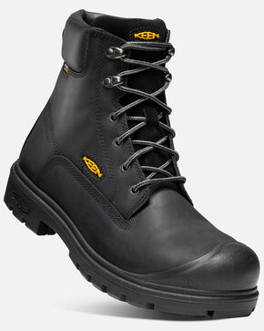Keen Men's Baltimore Waterproof Work Boots - Steel Toe, Black, hi-res