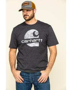 Carhartt Men's Carbon Heather Heavyweight Graphic Short Sleeve Work T-Shirt , Grey, hi-res