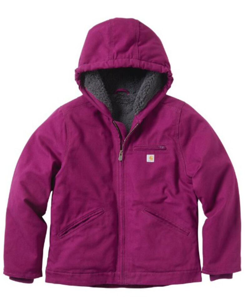 Carhartt Girls' Plum Caspia Sierra Sherpa Lined Jacket, Purple, hi-res