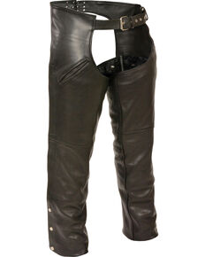 Milwaukee Leather Men's Slash Pocket Thermal Liner Chaps, Black, hi-res