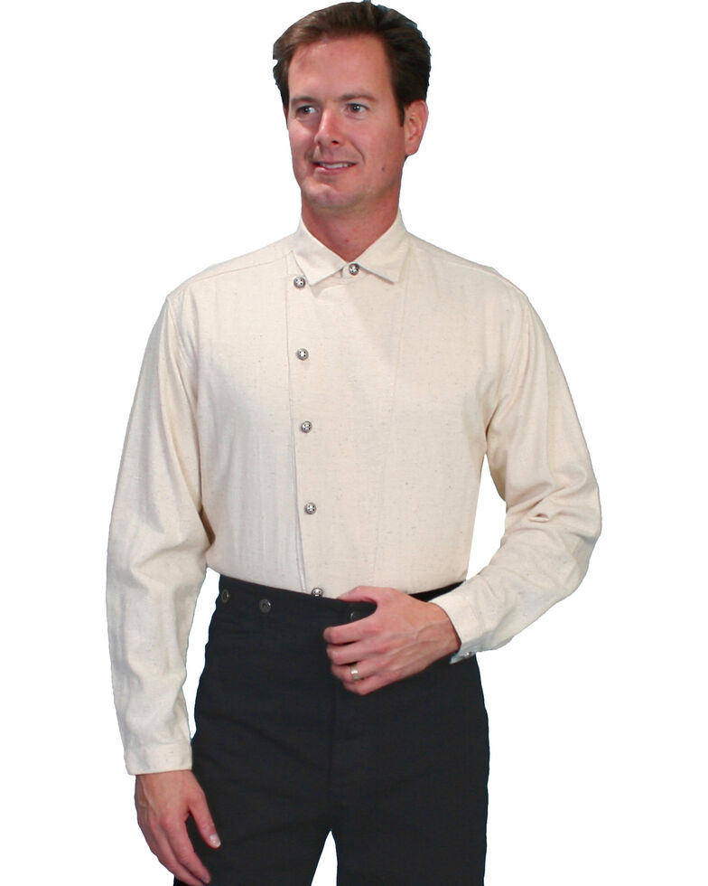 Rangewear by Scully Osnaburg Button Shirt - Big and Tall, Natural, hi-res