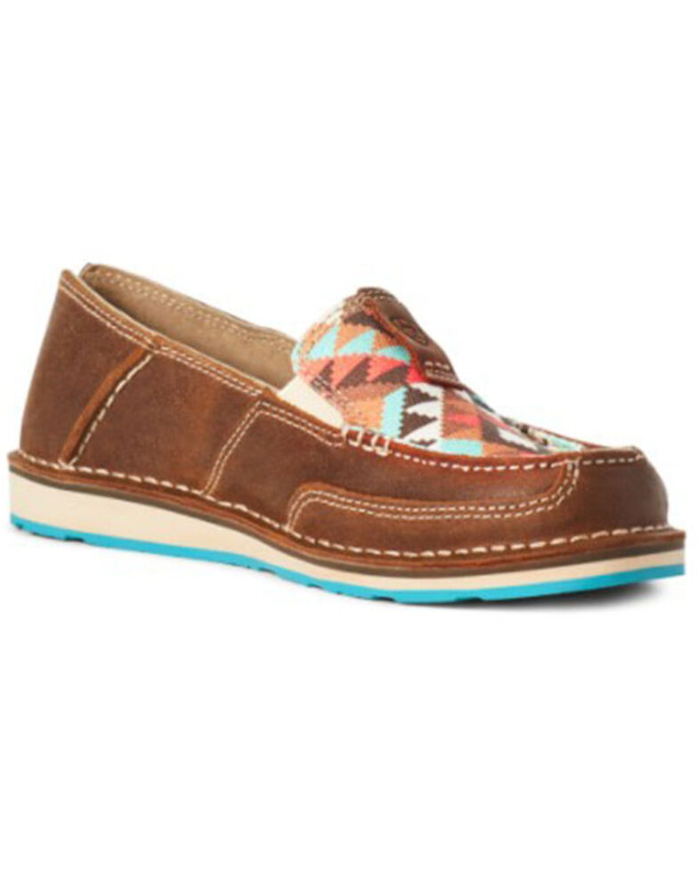 Ariat Women's Geo Print Cruiser Shoes - Moc Toe, Multi, hi-res