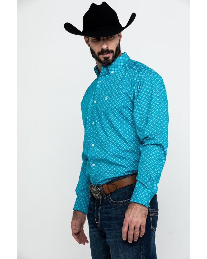 Ariat Men's Backren Stretch Geo Print Long Sleeve Western Shirt , Multi, hi-res