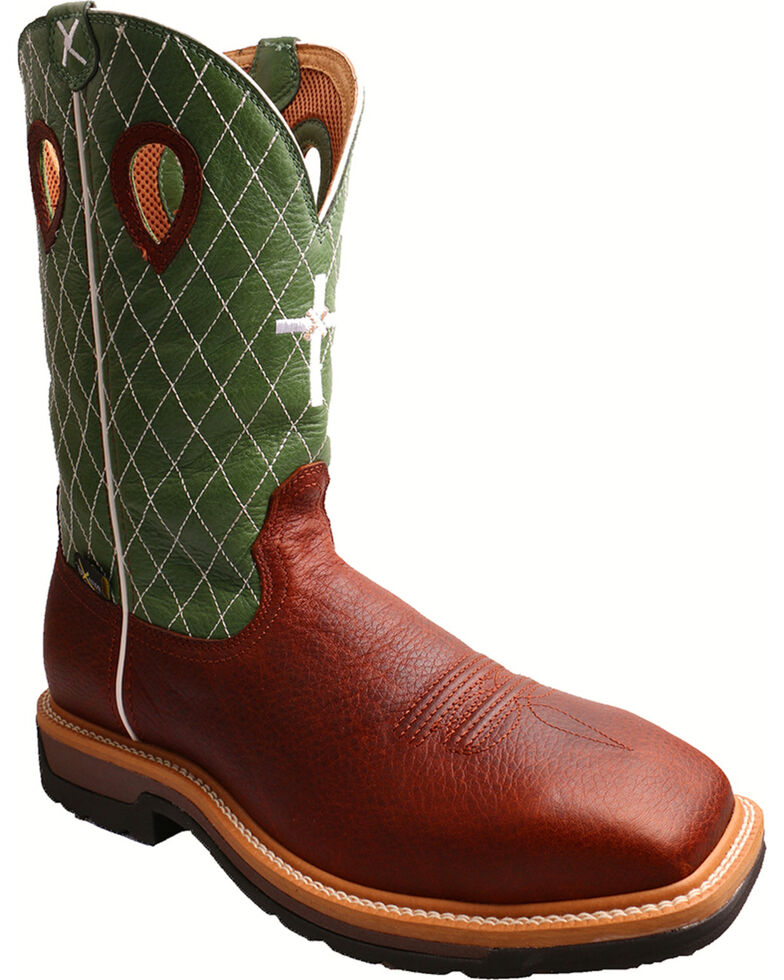 Twisted X Men's Steel Toe Met Guard Work Boots, Cognac, hi-res
