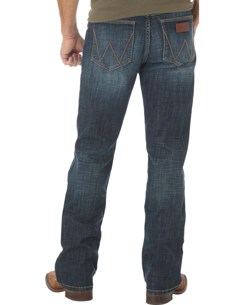 Wrangler Retro Slim Fit Dark Wash Boot Cut Jeans - Big and Tall, Indigo, hi-res
