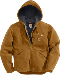 Carhartt Men's Sandstone Sierra Sherpa Lined Jacket, Carhartt Brown, hi-res