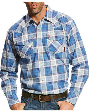 Ariat Men's FR Permian Retro Long Sleeve Snap Work Shirt, Multi, hi-res