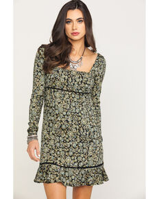 Free People Women's Boheme Mini Dress, Black, hi-res