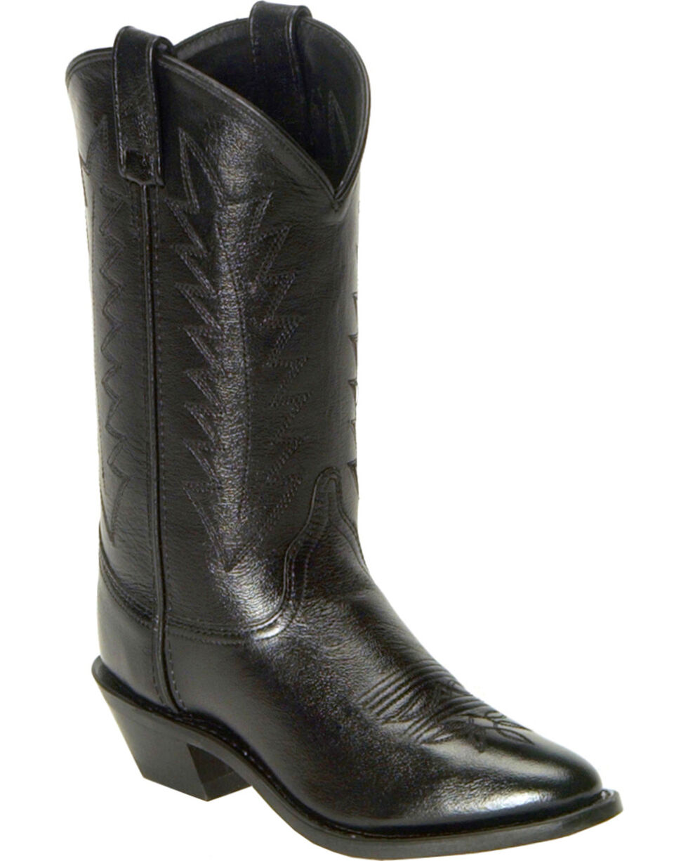 Old West Corona Cowgirl Boots - Medium Toe, Black, hi-res