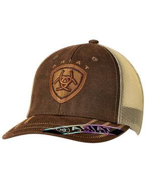 Ariat Youth Brown Trucker Cap, Brown, hi-res