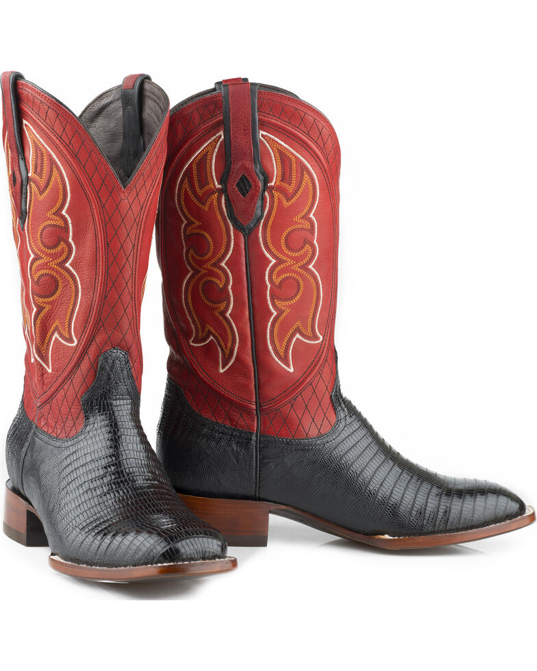 Stetson Men's Arlington Exotic Boots, Black, hi-res