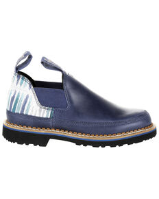 Georgia Boot Women's Giant Blue Striped Romeo Shoes - Round Toe, Blue, hi-res
