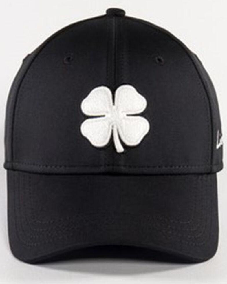 Black Clover Men's #41 Premium White Lucky Logo Flex-Fit Ball Cap , Black, hi-res