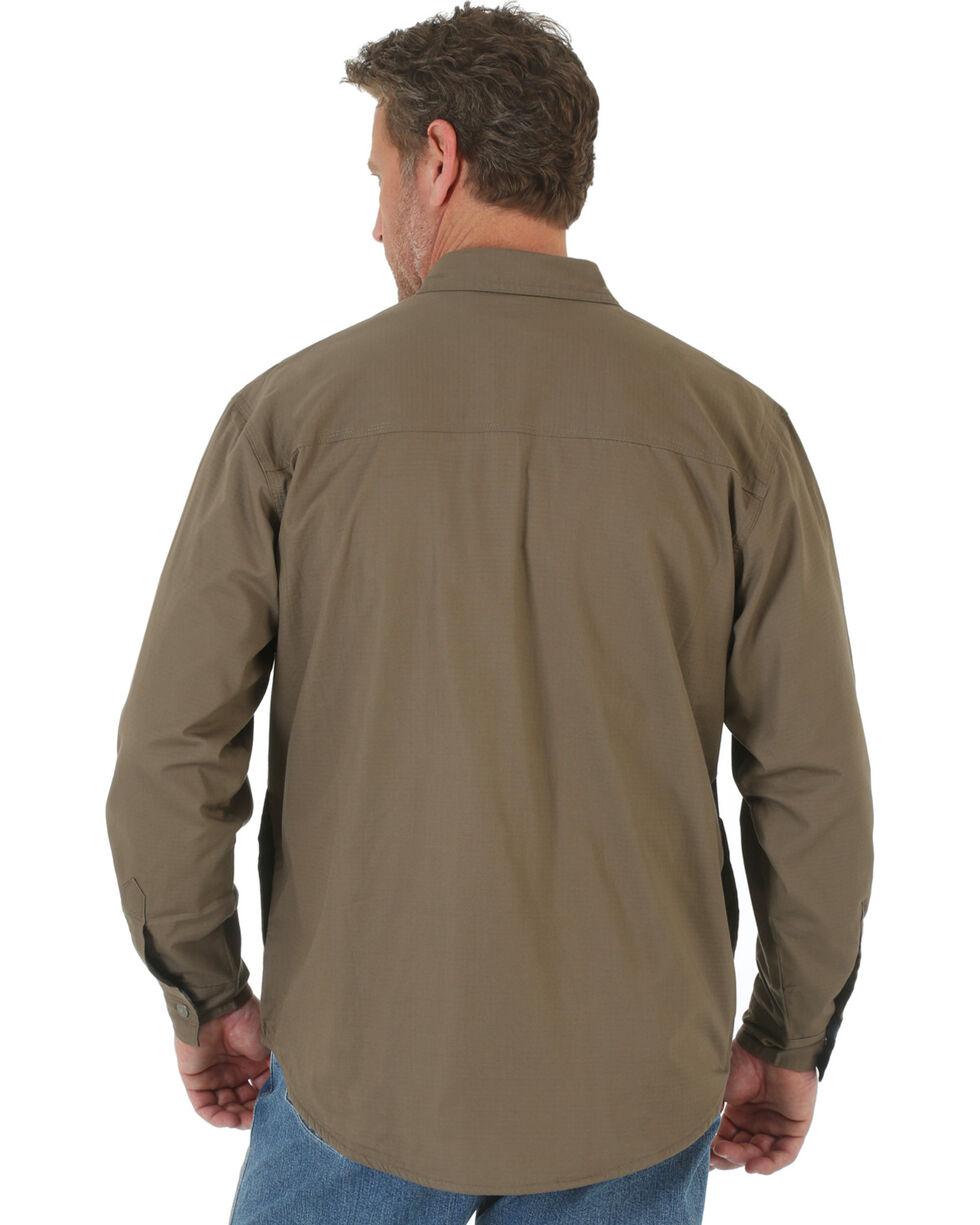Wrangler Men's Beige Riggs Workwear Flannel Lined Ripstop Shirt , Beige/khaki, hi-res