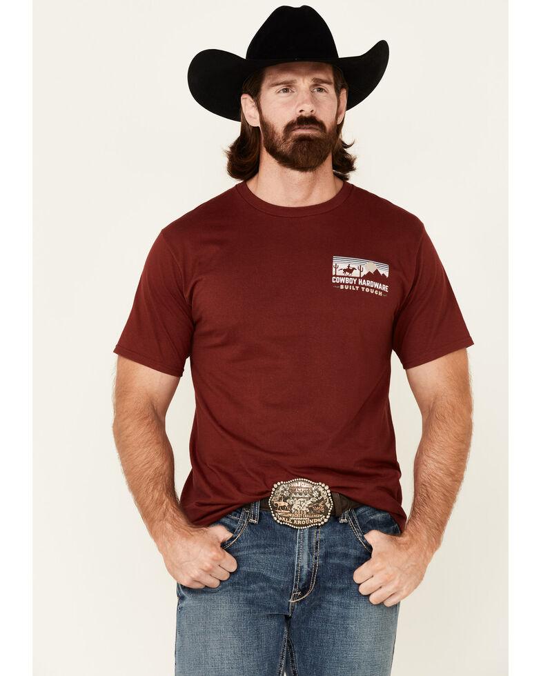 Cowboy Hardware Men's Red Built Tough Graphic Short Sleeve T-Shirt , Red, hi-res