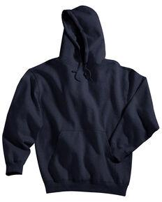 Tri-Mountain Men's Perspective Navy Hooded Sweatshirt, Navy, hi-res