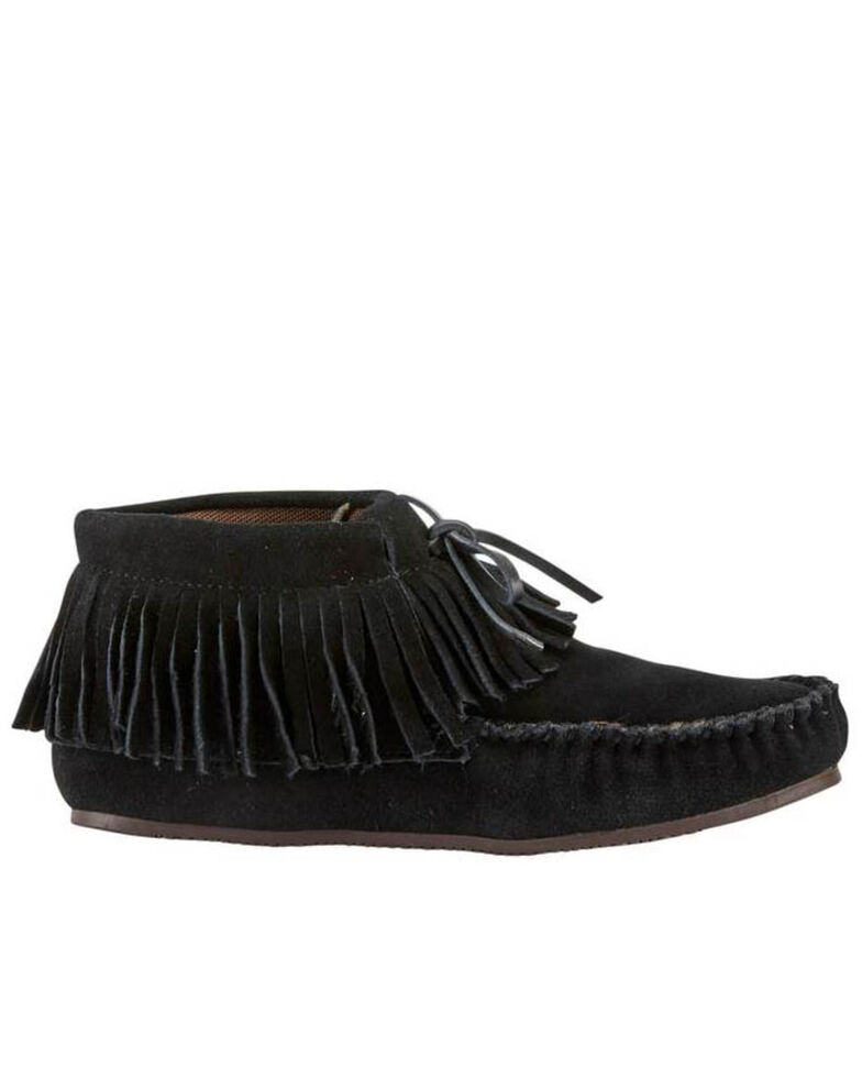 Lamo Footwear Women's Black Ava Slippers - Moc Toe, Black, hi-res