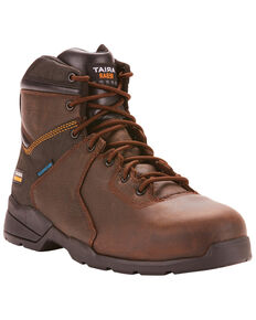 Ariat Men's Rebar Flex Protect Work Boots - Composite Toe, Dark Brown, hi-res