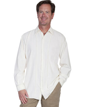 Scully Cantina Contrasting Stitch Shirt, Ivory, hi-res