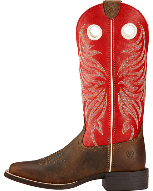 Ariat Women's Round Up Ryder Western Boots, Distressed, hi-res