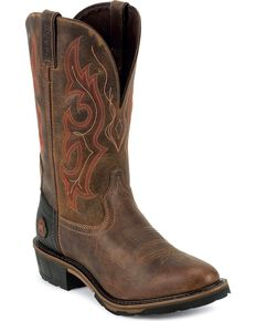 Justin Men's Rugged Western Work Boots, Rugged, hi-res