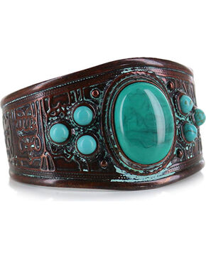 Shyanne® Women's Antiqued Turquoise Cuff, Turquoise, hi-res