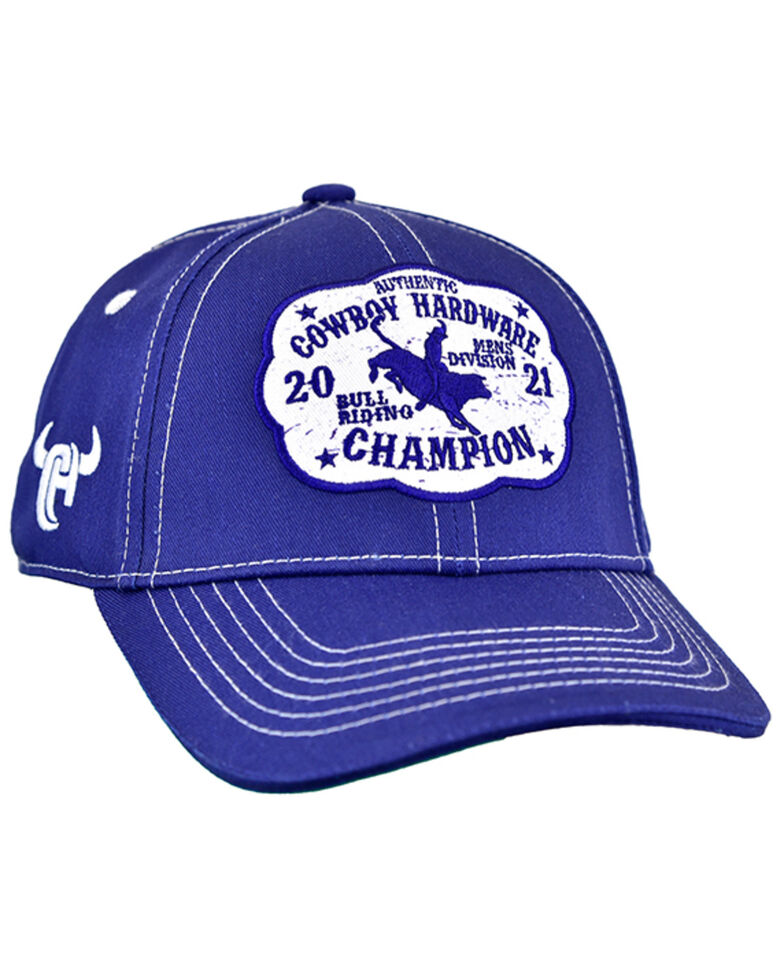 Cowboy Hardware Boys' Navy Champion Buckle Embroidered Patch Ball Cap , Navy, hi-res