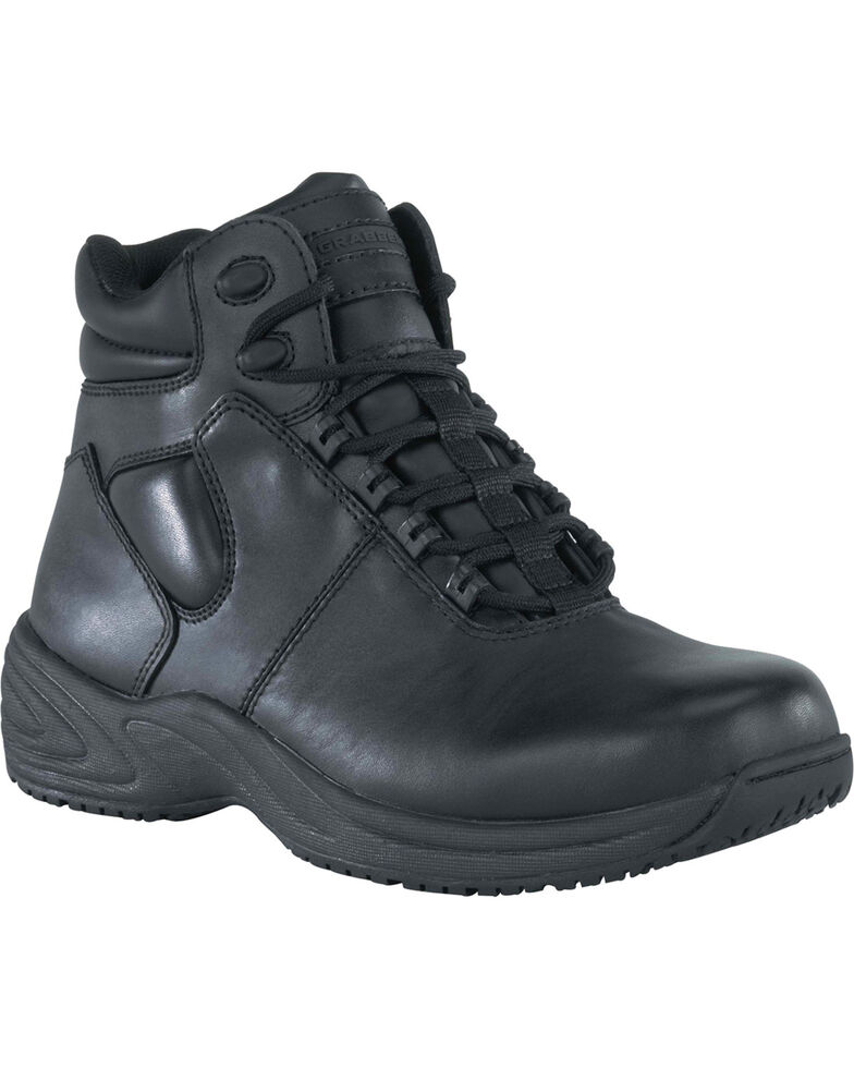 "Grabbers Men's Fastener 6"" Sport Work Boots, Black, hi-res"