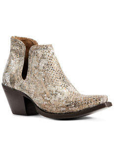Ariat Women's Dixon Metallic Snake Print Fashion Booties - Snip Toe, Multi, hi-res