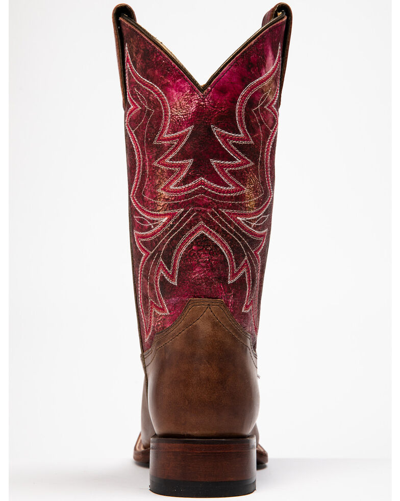 Shyanne Women's Pink Stryke Western Boots - Wide Square Toe, Brown/pink, hi-res
