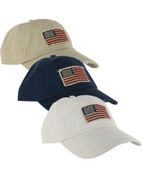 Dorfman Pacific Cotton Stars and Stripes Baseball Cap , Multi, hi-res