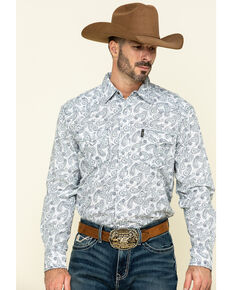 Cinch Men's Modern Fit Multi Paisley Print Long Sleeve Western Shirt , Multi, hi-res