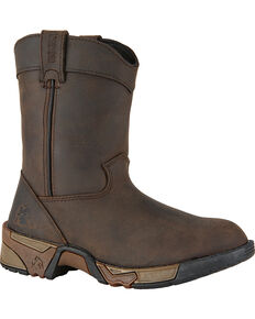 Rocky Kids' Aztec Pull-On Boots, Brown, hi-res